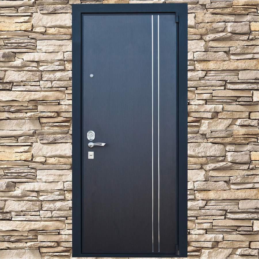 стальная черная входная дверь